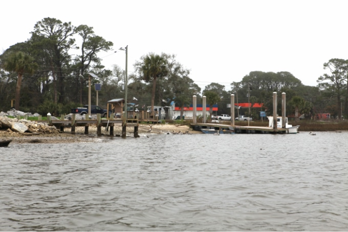 Boat launch and docks