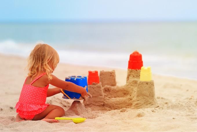 Carrabelle Beach - Girl building sand castle